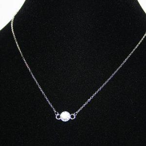 "NWOT 17"" silver rhinestone necklace"